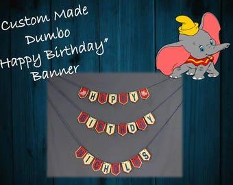 Cutsom Dumbo Happy Birthday Banner