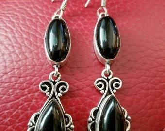 Black Onyx Earrings !