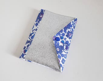 Silver faux leather and Liberty Betsy blue diary 2018