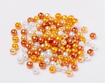 6 mm Glass Pearl Mix, Caramel Mix (2077)