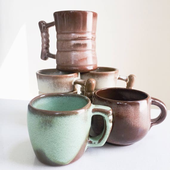 Frankoma Vintage Coffee Mugs