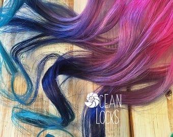 Blue Hair Extensions, Clip In Hair, Ombre Hair, Purple hair, Mermaid Hair, Ombre Hair, Pastel Hair,Pink Hair, Aqua Hair,Ocean Locks