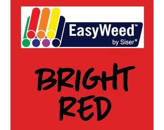 Siser EasyWeed Heat Transfer Vinyl - HTV - Bright Red