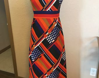 Women's printed maxi dress size xs to small