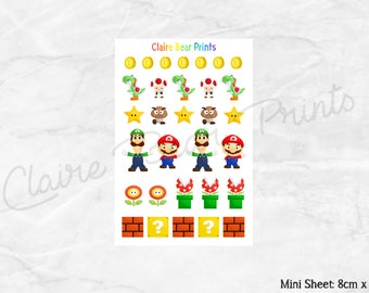 VIDEO GAME Planner Stickers - Mini sheet