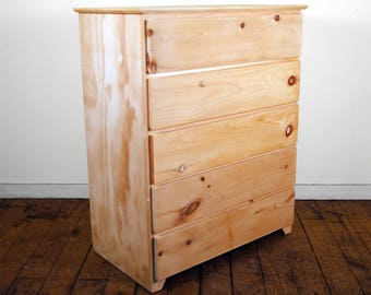 Modern 5 Drawer Finished/Unfinished Bedroom Clothing Dresser