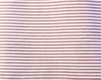 2 Yards Flannel Fabric Purple White Stripes Soft Cotton Flannel Continuous Yardage JoAnn Fabrics Excellent New Condition