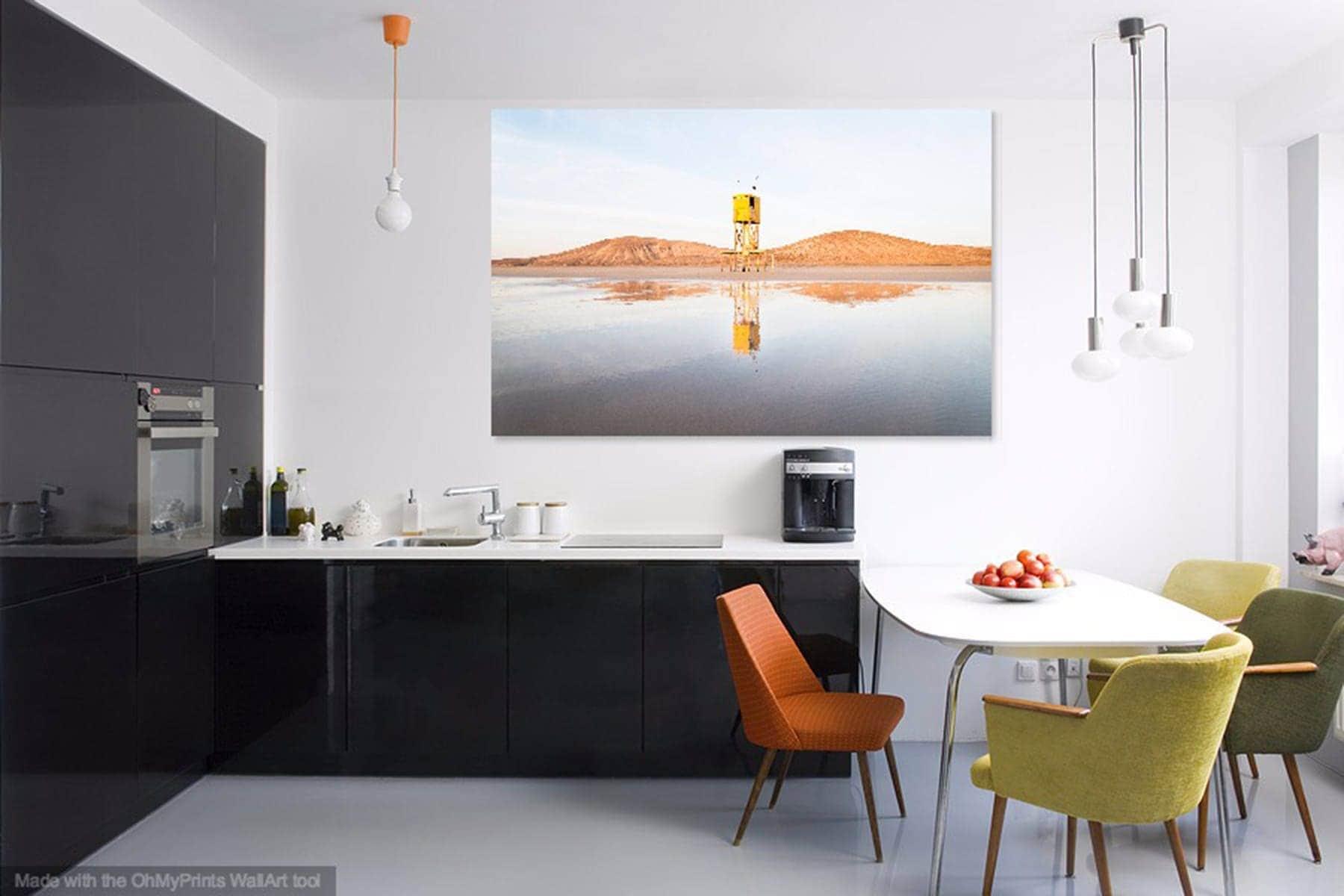 The Yellow Tower Beach Print Fuerteventura Coastal Picture  # Muebles Laver Fuerteventura