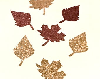 Autumn Wedding Table Decor; Thanksgiving Table Decor; Autumn Leaves; Fall Leaves; Copper; Brown; Decoration