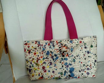 Coated canvas artist tote bag