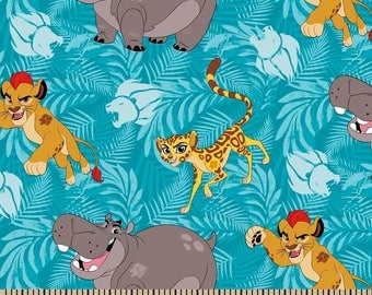 "Lion Guard by Springs Creative, 43-44"" wide, 100% cotton, by the half yard"