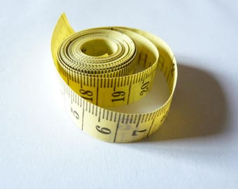 tape yellow plastic with 150 cm