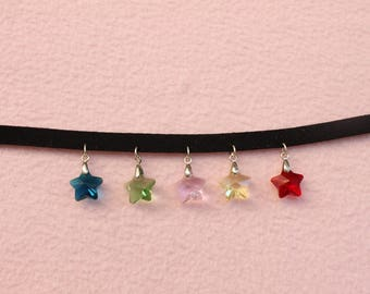Rainbow Star Choker