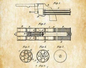 1917 Smith and Wesson Revolver Patent - Gun Patent, Patent Print, Gun Art, Firearm Art, Revolver, Gun Enthusiast, Antique Gun, Gun Lover,