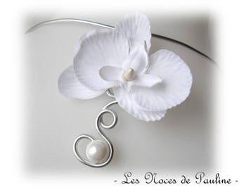Back white jewel Orchid scrolls wedding v2