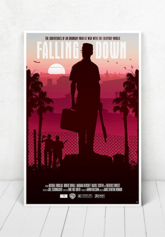 Falling Down Movie Poster Illustration / Falling Down Movie Poster / Movie Poster / Falling Down / Michael Douglas