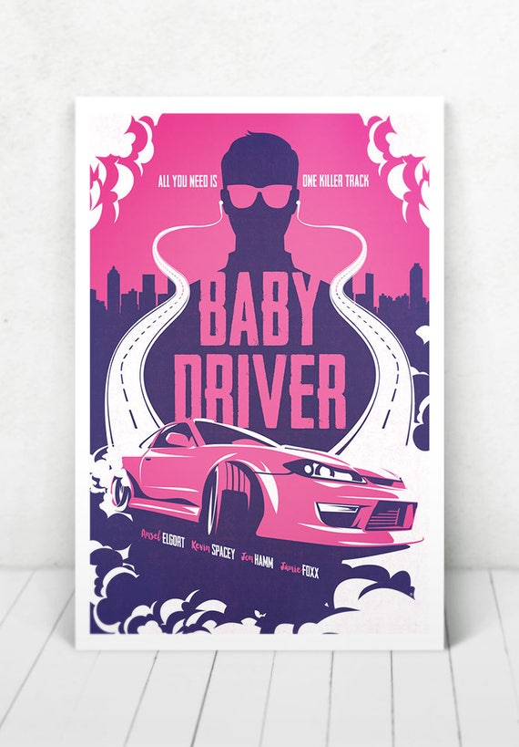 Baby Driver Movie Poster Illustration / Baby Driver Movie Poster / Baby Driver / Movie Poster