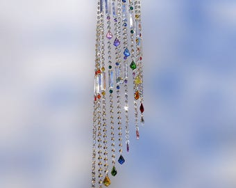 Suncatcher, Crystal Suncatcher, Crystal Sun Catcher, Crystal Wind chime, Chandelier, Mobile, Suncatcher Crystal, Windchime, FREE SHIPPING