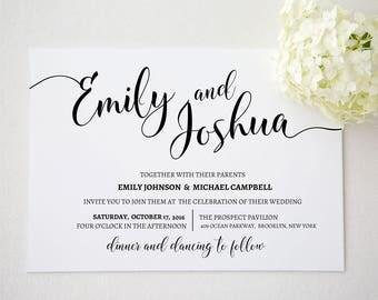 Wedding invitation template . Printable Wedding Invitation Suite. Wedding Invitation Suite. Wedding Invitation Set. Invitation set. 303