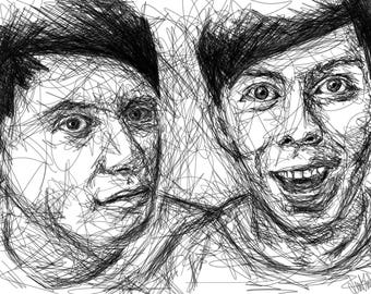 Dan & Phil Scribble [PRINT]