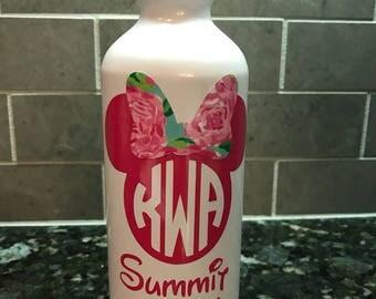 Monogrammed aluminum water bottle