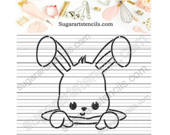 Little bunny Easter PYO cookie stencil ST00513