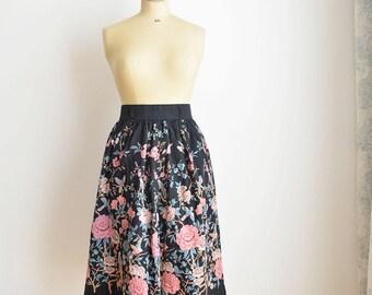 Vintage Boho-Flower Skirt