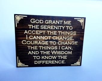 Serenity Prayer Wall Art serenity prayer sign | etsy