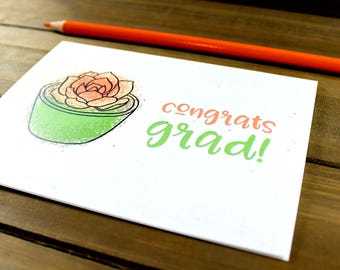 Teacher Grad Card, Grad Card, Congrats Grad, Graduation Card, High School Graduation, School Grad Card, High School Grad (07-0016-004)