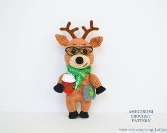 Victor the reindeer pattern Fairytale gift Reindeer amigurumi toy pattern Amigurumi reindeer Crochet reindeer Reindeer crochet LaCigogne