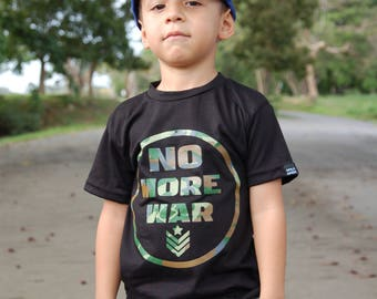Tshirt for Kids No More War from Mala Maña Clothing
