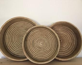 Vintage coil baskets (set of 3)