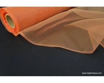 Organza polyester abricot robe de mariée