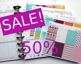 SALE - weekly kit - the purple aztec (Erin Condren and Happy Planner Stickers)