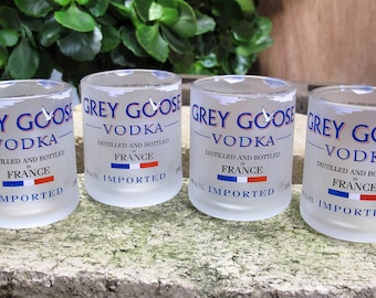 vodka shot glasses grey goose vodka cut repurposed bottle set of four unique gift vodka gift valentines ideas for her shot glasses in bulk