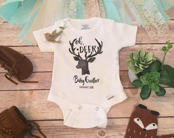 Oh Deer Pregnancy Announcement Onesie®, Deer Pregnancy Reveal, Hunting Onesie, Pregnancy Reveal to Grandparents, Expecting, Oh Deer Onesie