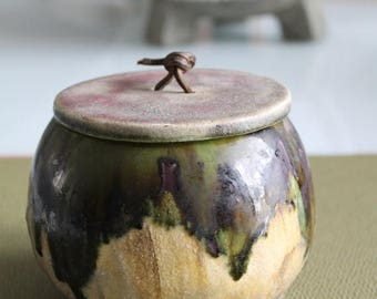 ON SALE Ceramic art CHAPPIZ / 50s / partly glazed stoneware / ceramic and pottery