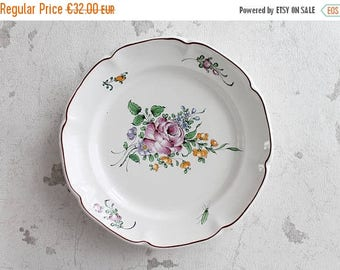 ON SALE French decorative plate with Strasbourg decor, french vintage plate, Handpainted plate, shabby chic decor