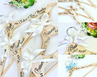 Wedding Hanger, Bridal Hanger, Personalised Wedding Hanger, Bridesmaid Hanger, Wedding Coat Hanger, Bridal Shower Gift, Mother Of The Bride