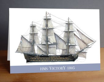HMS Victory 1805 greeting card