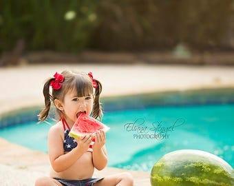 Instant Download Digital Backdrop!! Spring and Summer Digital backdrop! Cute Watermelon Pool Scene <3