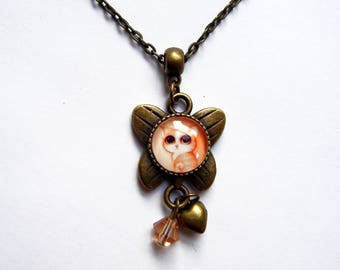 "Child's pendant ""kitten with big eyes"""
