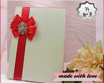 Luxury card box. Greeting card box. Box with a bow. Wedding card box. Valentines card box. Stationary box. Bride card box. Love card box.