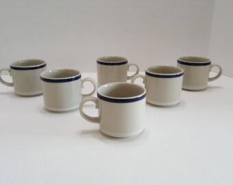 Vintage Arabia Finland Ahti Espresso Cups Demitasse Set of 6 Cups
