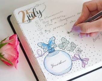 Scratch&Dent - Display Items | Coloring Perfume-Themed Yearly Planner | Scent of the Day Yearly Diary - A Perfect Gift For Fragrance Lovers!