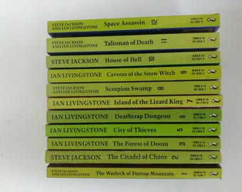 Collection of fighting fantasy gamebooks.