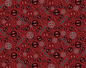 Deadpool icon toss Cotton fabric