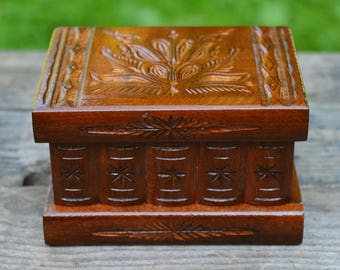 wooden small jewelry box souvenir gift surprise gift box gift for men cufflink box - Cufflink Box