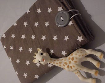 rug diaper - changing table taupe gray star white and gray sponge XXL