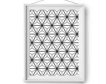 Black and White Print, Scandinavian Art, Pattern Print, Abstract Art, Geometric Poster, Art Prints, Wall Decor, Modern Art, Print Avenue